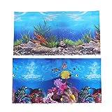 Balacoo Pegatina de Fondo del Acuario Papel Pintado Adhesivo de Doble Cara 3D pecera imágenes Decorativas para decoración de Imagen de Fondo Submarino 42x30 cm