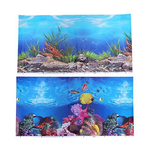 Balacoo Aquarium Hintergrund Aufkleber 3D doppelseitig klebende Tapete Aquarium dekorative Bilder für Unterwasser Hintergrundbild Dekor 42x30cm