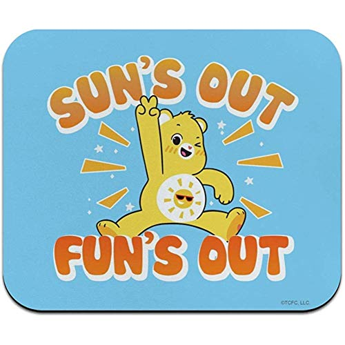 Mauspad Mauspad rutschfeste Pflegebären Entsperren Sie Die Magische Sonne 'S Out Fun' S Out Dünnes Low-Profile-Mauspad Mousepad-9,8 X 11,8 Zoll