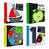 lijun Baby First Soft Juego de Libros de Tela para Actividades, Paquete de Libros Blandos...