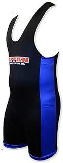 LiftingLarge Titan Triumph Powerlifting Singlet Black/Blue IPF Legal Raw