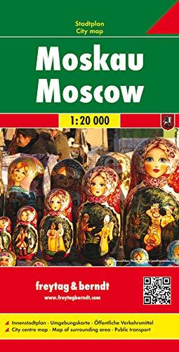 Moscú, plano callejero. Escala 1:20.000. Freytag & Berndt.: Stadskaart 1:20 000 (Country Mapping S.)