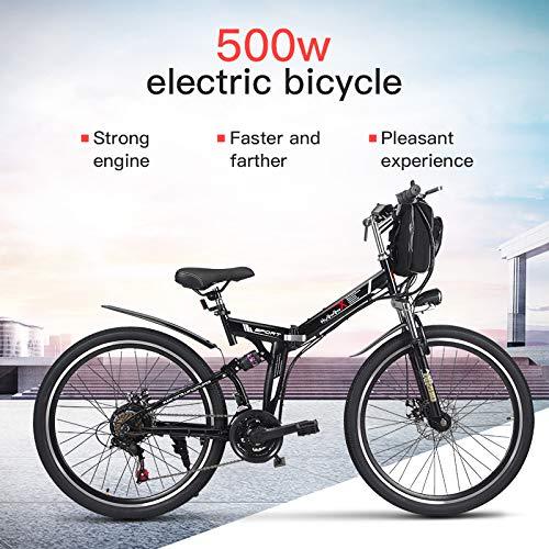 XXCY M70 + 500W 26 'E-Bike Foding MTB Elektro-Fahrrad 48v 8AH Baterry 21 Geschwindigkeiten (schwarz)