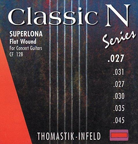 Thomastik Einzelsaite D4 .030 Chromstahl geschliffen und poliert CF30 für Klassikgitarre Classic N Series Superlona light Satz CF128, CF127