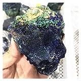 Changskj Naturkristall rau 200g-280G Natürliche Rohe Rohe Stein Azurite Malachitmineralien Kristall Probe 1PC (Size : 1pc)