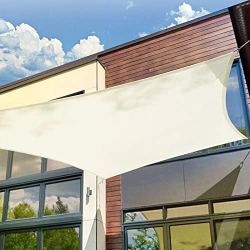 Patio Shack Tenda a Vela Impermeabile Quadrata 3x3 m, Vela Ombreggiante 3x3 m Impermeabile, Tenda da Sole per Esterno, Giardino Terrazza,Bianca Crema