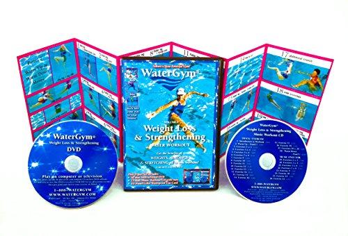 WaterGym Weight Loss & Strengthening Water Aerobics DVD/Music CD/Waterproof Card