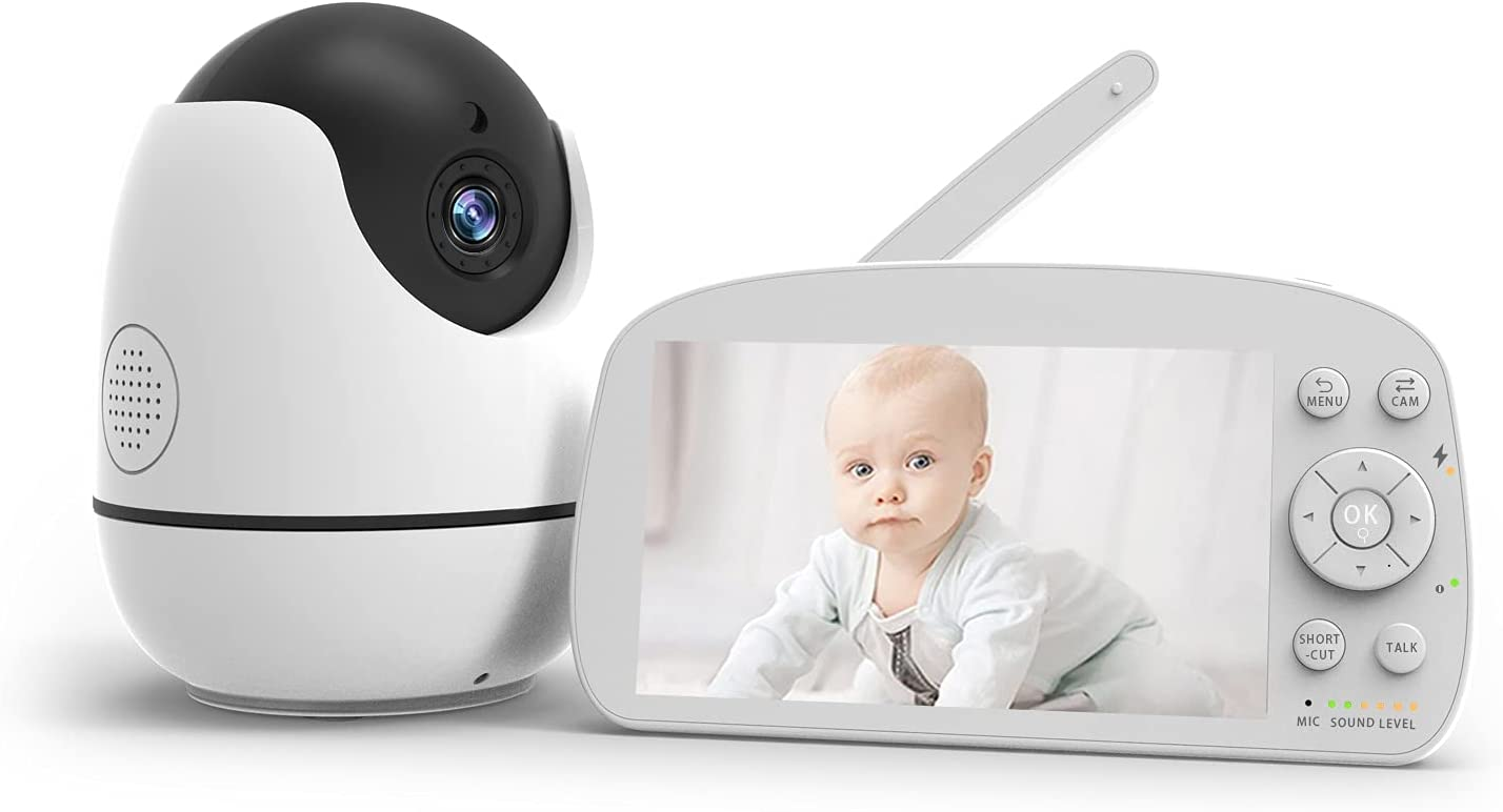 Video Baby Monitor, Konnek Stein Baby Monitor with Camera and Audio 720P HD Resolution, 5.5