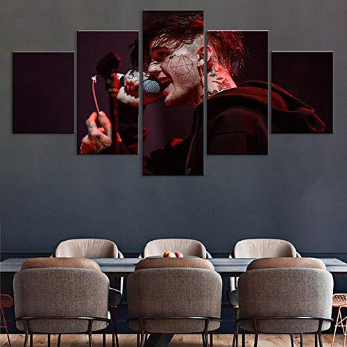 Lienzo artista de la pared cartel de impresión decorativa 5 piezas de iguana caracol gecko reptil serpiente pintura tranquilo bosque vida imágenes 150cm x 80cm sin marco