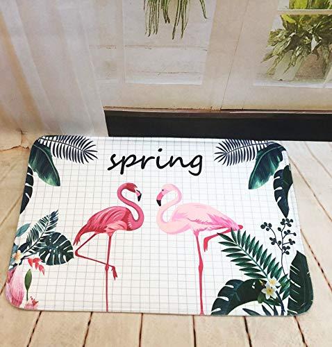 GjbCDWGLA anti-slip badmat deurmat, kleine rooster Flamingo wasbare badmatten, zachte microvezel douchegordijn 50 * 80 cm
