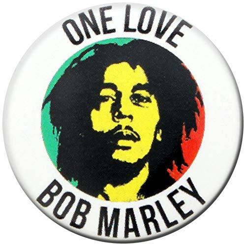 Bob Marley - Insignia de One Love (2,5 cm)