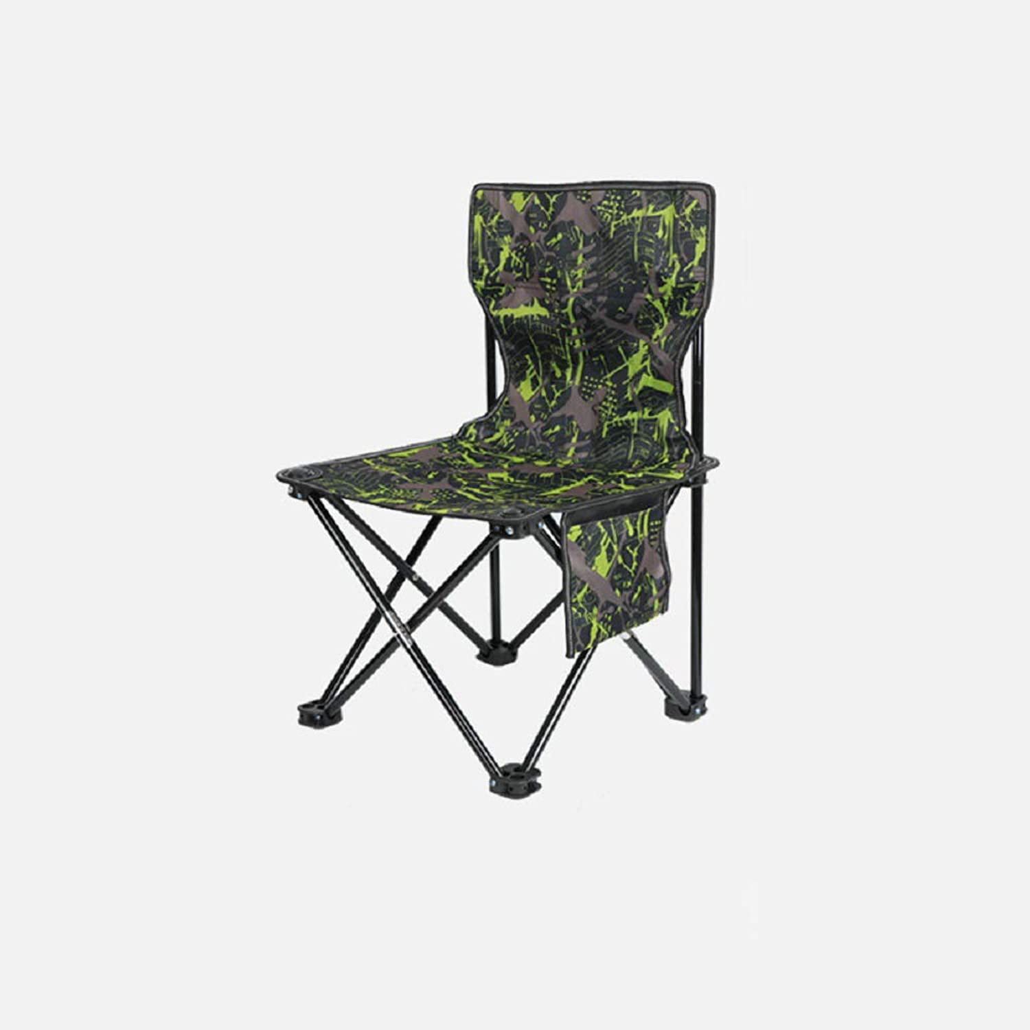 Outdoor Folding Chair Train Small Mazar Art Sketch Chair Oxford Cloth Material Comfortable and Durable Very Suitable for Camp Travel Beach Barbecue and Other Outdoor Activities,camouflagegreen