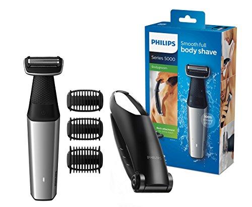 Philips BG5020/15 Bodygroom Series 5000 mit Aufsatz für Rückenhaarentfernung und 3 Kammaufsätzen zum Trimmen