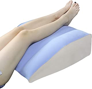 Inflatable Leg Wedge Pillows for Elevation,QDH Lightweight Leg Elevation Pillow with Velour Surface and Quick Inflate/Deflate Valve, Leg Rest Foot Pillow (Leg Pillows)
