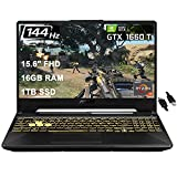 "2021 FlagshipAsus TUF A15 Gaming Laptop 15.6"" 144Hz FHD IPS AMD Octa-Core Ryzen 7 4800H(Beats I7-9750H) 16GB DDR4 1TB SSD NVIDIA GTX 1660 Ti RGB Backlit KB Win 10 + iCarp HDMI Cable"