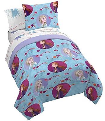 Jay Franco Disney Frozen 2 Sister Dots Bed Set, Twin