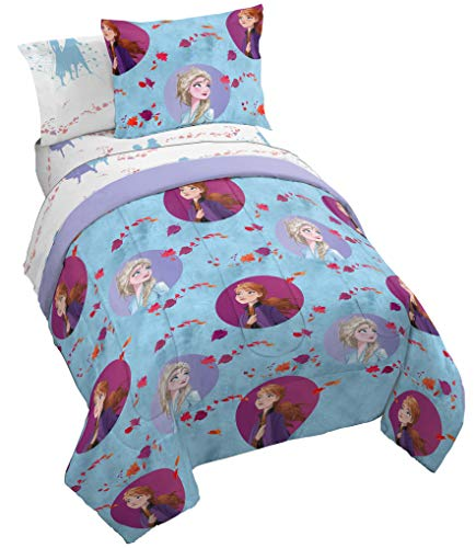 Jay Franco Disney Frozen 2 Sister Dots Bed Set, Full