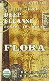 Flora Organic Detox Deep Cleanse Tea 16 Teabags - Non GMO & Caffeine Free - Natural & Gentle Body Detoxification