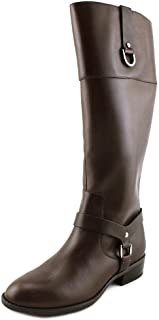 Lauren by Ralph Lauren Womens Mesa Leather Closed Toe Mid-Calf, Brown, Size 5.0