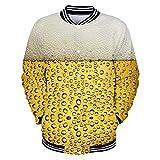 MAYOGO Oktoberfest Herren Kapuzenpullover Hoodie/Kurzem Stehkragen Sweatjacke/Lange Stehkragen Sweatshirt, Herren Karneval Kostüm, 9 Farben Große Größen