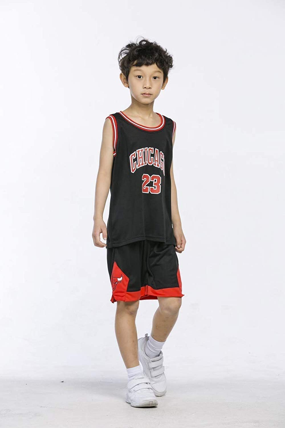 CCL NBA Kid Jersey Set, 23 Bulls Jordan Basketball Stickerei Shirt Training Tragen Für Jungen & Mdchen