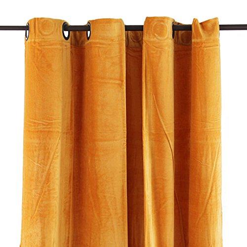 cortinas terciopelo amarillo