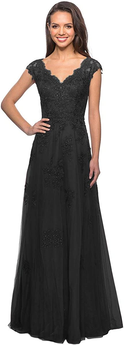 Clothfun Cap Sleeve Some reservation Mother of The Evening Popular overseas fo Bride Gowns Dresses