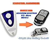 NOVOFERM NOVOTRON 512, MIX43-2 kompatibel handsender, 4-kanal ersatz sender, 433.92Mhz rolling code. Top Qualität ersatzgerät!!!