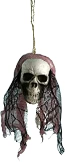 Aiaban Halloween Hanging Decor Pirates Corpse Skull Haunted House Bar Home Garden Decor Lace Flower Head Cover Tree Hanging Ornaments for Halloween Themed Party