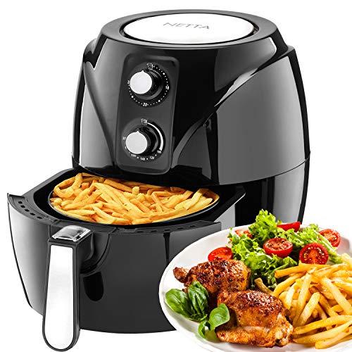 NETTA 3,5 L friggitrice ad aria calda senza olio con controllo della temperatura - Nero - Air Fryer