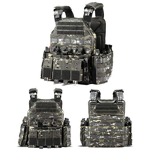 ColiCor Taktische Weste Herren Militär Tactical MOLLE Weste Armee Tactical Weste Für Paintball Jagd Camping CS Outdoor, Schwarz