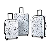 American Tourister Moonlight Hardside Expandable Luggage with Spinner Wheels, Marble, 3-Piece Set (21/24/28)