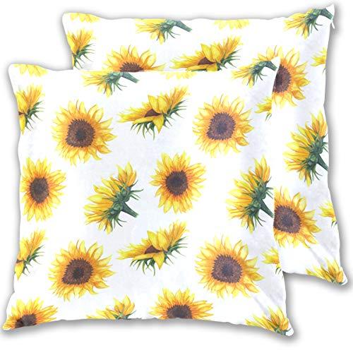 Umiriko - Federa decorativa per cuscino a forma di girasole, 40 x 40 cm, 2 pezzi, 2020153