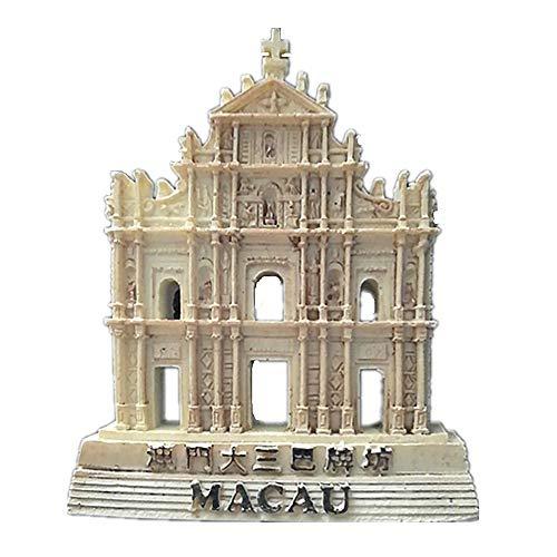 Kühlschrankmagnet mit 3D-Ruinen von St. Paul Macao China Souvenir, Reiseaufkleber, Heim- & Küchendekoration, Macao Kühlschrankmagnet