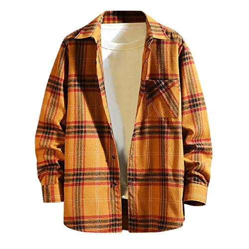 NOBRAND Herenshirt geruite heren winter lange mouw knoop kraag casual top blouse shirts warm flanel shirt