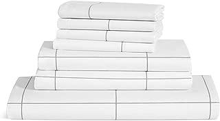 Brooklinen Luxe 7 Piece Sheet Set – 1 Flat Sheet, 1 Fitted Sheet, 4 Pillowcases, and 1 Duvet Cover – 480 Thread Count Sateen – 100 Percent Long Staple Cotton – Oeko-TEX Certified – Windowpane – Queen