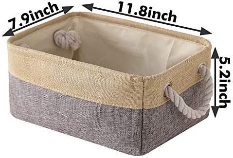 11.8L7.9W5.2H inch Fabric Storage Basket for Shelves Small ...