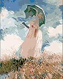 FDDPT Malen nach Zahlen DIY Ölgemälde Frau mit Regenschirm für Erwachsene Kinder Anfänger Geschenk Art Wandkunst Dekoration 40x50cm