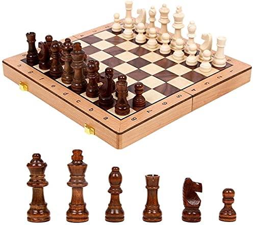 Conjunto de ajedrez clásico Conjunto de ajedrez magnético, placa plegable plegable con almacenamiento, Junta Internacional de Juego de Ajedrez para Travel Dife Travel International Chess Board Games S