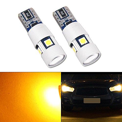 Bombilla LED HSUN T10, 5 W, 194, 168, 175, 2825, 12961, 12 V-24 V, 5 LED, SMD3030, Canbus, sin errores, para luces de marcador laterales, luz de marcha atrás y más