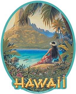 Hawaiian Art Decal - Car Window Bumper Sticker - Hawaii by Kerne Erickson