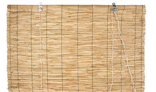 Verdemax 6708 - Estor Enrollable (1,2 x 2,6 m, bambú, sujetado por Hilo de Nailon con polea)