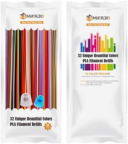 32 Colors 3D Printing Pen PLA Filament Pack Each 0 3 Meter Each Color 5pcs Total 160 Pcs 48 product image