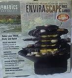 Homedics Envirascape Illuminated Tabletop Relaxation Rock Garden Fountain (Black, 11Wx7Hx11D)