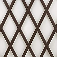 tenax Treplas 1,00 x 3 m, marrón, celosía Extensible de PVC para Soporte de Pared de Flores y Plantas trepadoras