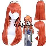 Anime Gekkan Shoujo Nozaki-Kun Chiyo Sakura Cosplay Wig Orange Long Straight Heat-Resistant Hair Halloween Party Wigs Pl-374