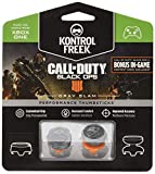 KontrolFreek Call of Duty: Black Ops 4 Grav Slam for Xbox One Controller | Performance Thumbsticks | 1 High-Rise Convex, 1 Mid-Rise Convex | Gray/Orange