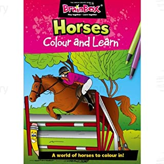 Brainbox Colour and Learn Horses Colouring & Fact Book
