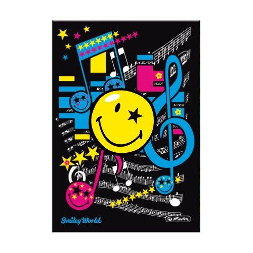 Herlitz 11366069 - Quaderno A5, motivo: Smiley World Pop, 96 pagine a quadretti