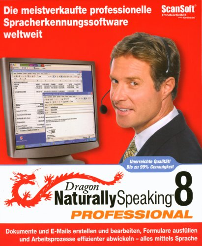 Dragon Naturally Speaking 8.0 Professional CD Win